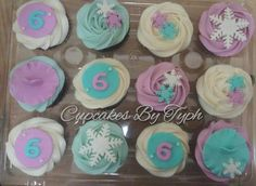 Frozen Themed Cupcakes #cupcakesbytyph