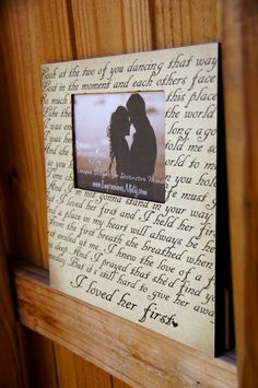 ANY Song Lyrics Picture Frame Christmas Gift by ImpressionsByMisty