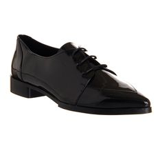 Office Kalamity Point Lace Up Black Patent - Flats