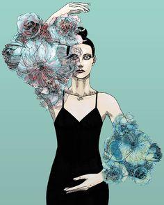 girl portraits for fun Illustration, My Arts, Comics, Portrait, Instagram, Drawings, Dancer, Flowers, Fashion