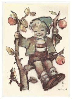 Hummel .......    Jongen in de appelboom. ,,,,,,   hertst..... apple tree boy