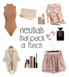 """Neutral"" by haileysartorius on Polyvore featuring WithChic, Michael Kors, Chanel, Laura Mercier and tarte"