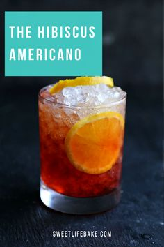 First served up in the 1860's at the Garspare Campari bar in Milan this cocktail features campari, a bright red spirit that is bittersweet. Vibrant, bright and refreshing this Hibiscus Americano is great for summer entertaining.  #americano #hibiscusamericano #sweetlifebake #sweetlife #sweetliferecipes | sweetlifebake.com @sweetlifebake