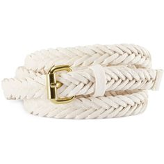 H&M Belt (£3.99) ❤ liked on Polyvore featuring accessories, belts, white, fake belts, vegan belt, braided belt, h&m belts and faux leather belt