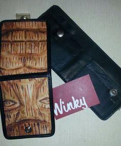 Vintage Winky&Dutch Black  WALLET  Tiki  Big  by WinkyDutchCoStore