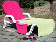 DIY Lounge Chair Cover by virginiasweetpea.com