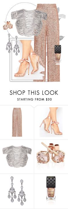 """""""Glitter pink II"""" by lisastarflower ❤ liked on Polyvore featuring CO, Temperley London, Truffle, Leal Daccarett, Reeds Jewelers, Nina, Gucci, girlpower and powerlook"""