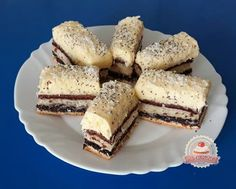 Orchidea szelet Hungarian Recipes, Hungarian Food, International Recipes, Raw Vegan, Cake Cookies, French Toast, Cheesecake, Stuffed Mushrooms, Low Carb