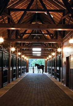Dream stables for my horses.I would live here WITH the horses. Dream Stables, Dream Barn, Horse Stables, Horse Farms, My Dream Home, House With Stables, Future House, My House, Classic Equine