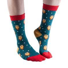 Wise Owl women's soft bamboo crew socks in moss Silly Socks, Cool Socks, Ankle Socks, Women's Socks, Novelty Socks, Bamboo, That Look, Wise Owl, Animals