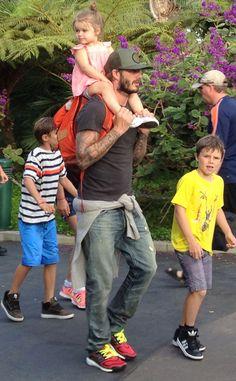 David Beckham, Harper Beckham, Romeo Beckham, Cruz Beckham <3 this family