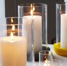 Our Pigment™ candleholders merge pools of deeply saturated color with a nearly invisible borosilicate glass to create a simple, cheery votive or hurricane. With these bright colors, Pigment™ candleholders are decoration for day or night, patio or living room.#candle #style #decor