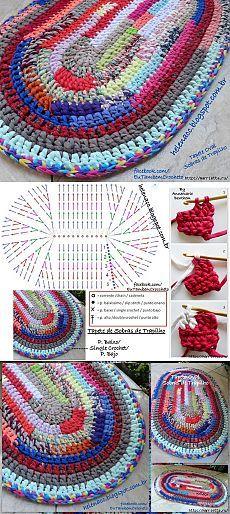 вязание - Knitting and crocheting - Teppich Crochet Mat, Crochet Carpet, Crochet Diagram, Crochet Home, Crochet Crafts, Crochet Doilies, Crochet Stitches, Crochet Projects, Free Crochet