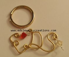EDS keychain. A symbol of Ehlers-Danlos Syndrome. Show your awareness!