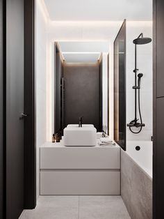 These half bathroom remodeling ideas can inspire a transformation that is sure to impress guests and family members alike. Our bathroom remodeling ideas can help make your dream bathroom a reality. Bathroom With Shower And Bath, Shower Taps, Small Bathroom, Modern Bathroom Design, Bathroom Interior Design, Bathroom Inspo, Bathroom Inspiration, Ultra Modern Homes, Minimalist Bathroom