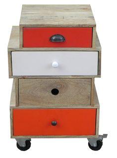 meuble d'appoint design se composant de 5 tiroirs en bois et métal ... - Meuble D Appoint Design