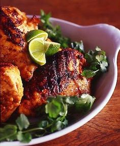 Mexican Style Oven Grilled Chicken - Marinating the chicken overnight is the secret to this Mexican-Style grilled chicken recipe. The marinade sinks into the meat and the lime helps to tenderize. Mexican Grilled Chicken, Grilled Chicken Recipes, Lime Chicken, Marinated Chicken, Bbq Chicken, Fried Chicken, Grilling Recipes, Cooking Recipes, Healthy Recipes