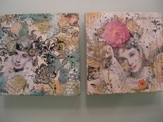 GOLDEN DREAMSOriginal Mixed Media Shabby Chic Fashion by cindyg, $70.00