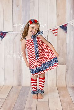 4th Of July Dress-American Flag-Stars Stripes-Chevron Dress-Baby Girl Clothes-Newborn-Infant-Child-Fourth Of July-Patriotic Pillowcase Dress on Etsy, $19.95