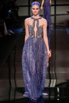 Sigrid Agren for Armani Privé Haute Couture spring 2014 collection.