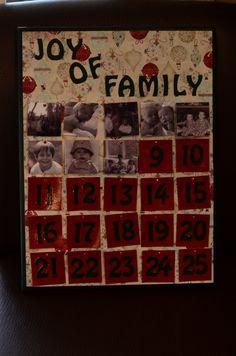 DIY photo advent calendar