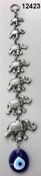 Wall Decor with 7 Elephant and  Eye by designsfromtr on Etsy, $24.99