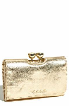 gold wallet - ted baker