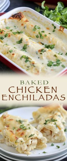 This is the BEST chicken enchilada recipe and one the whole family will love! Tips on how to shred chicken, a quick 10 minute creamy enchilada sauce starring sour cream and broth, and easy assembly thanks to using tortillas. This baked recipe will become a favourite!