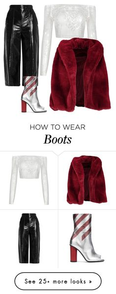 """Did u noticed those boots"" by smakena on Polyvore featuring Boohoo, MSGM and Anya Hindmarch"
