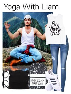 """""""Yoga With Liam /// CONTEST"""" by jackrabbit0823 ❤ liked on Polyvore featuring adidas"""
