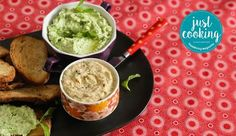 As cooked by Justine Drake on Just Cooking Season 2 Episode Bean Dip, Green Peas, Recipe Search, Just Cooking, Guacamole, Baking Recipes, Feta, Delicious Desserts, Dips