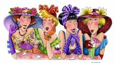 The girls getting fun pieces) Illustrations, Graphic Illustration, Red Brolly, Graffiti, Art Impressions Stamps, Sisters In Christ, Card Sentiments, Sewing Art, China Painting