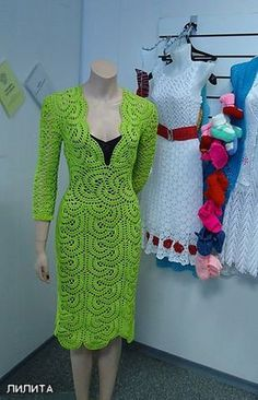 Fancy Crochet Dress. More Great Patterns Like This