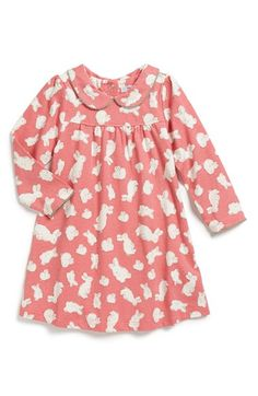 Mini Boden 'Pretty Collar' Jersey Dress (Baby Girls) available at #Nordstrom