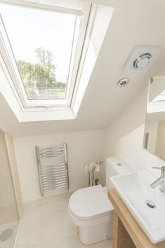 If you are looking for Small Attic Bathroom Design Ideas, You come to the right place. Below are the Small Attic Bathroom Design Ideas. Small Attic Bathroom, Loft Bathroom, Upstairs Bathrooms, Bathroom Interior, Bathroom Ideas, Budget Bathroom, Modern Bathroom, Master Bathroom, Small Attic Bedrooms