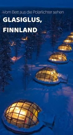 Glass igloo in Finland: See the Northern Lights from your bed - Madness! Check out this cool glass igloo in Finland! It is located in the middle of nature in Finni - Places To Travel, Places To See, Travel Destinations, Friday Pictures, Friday Pics, See The Northern Lights, Travel Drawing, Travel Goals, Travel Around The World