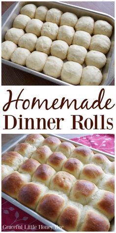 Try these delicious Homemade Dinner Rolls for a from scratch treat on gracefullittlehoneybee.com!