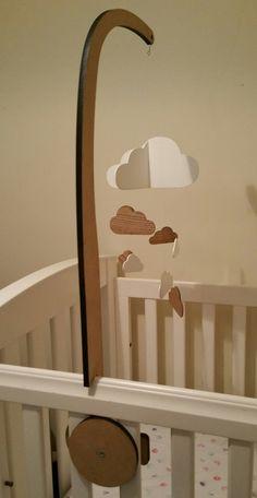 10 Baby Crib Mobile Holder White Wooden Mobile Arm