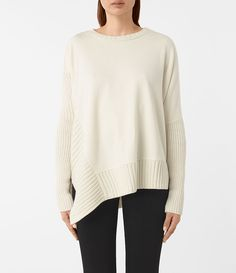 Womens Nia Drape Sweatshirt (Natural) - product_image_alt_text_1
