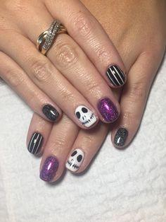 My Jack Skellington Halloween Nails 2016