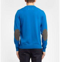 Maison Martin MargielaNubuck Elbow Patch Wool Sweater