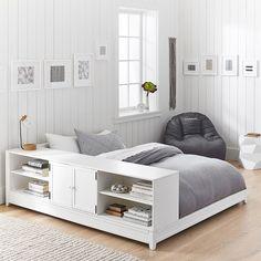 PB Teen Ultimate Platform Bed + Cubby/ Cabinet Set Twin Water-Based & Beadboard Storage Bed + 6-Drawer Wide Dresser Set 2.0 Twin Dark ...