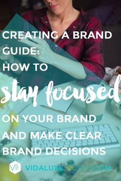 One of the things that will really help you to stay on brand is a brand guide. This is NOT a style guide. Both are very necessary, but a brand guide focuses specifically on who your brand is, what your brand goals are, and what your brand does. Here's a list of 10 key pieces that you can include in your brand guide: creating a brand guide   vidaluxe studio