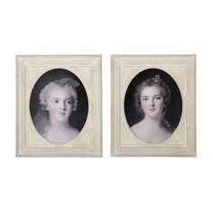 2 cadres déco en bois beige 50 x 60 cm POMPADOUR