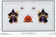 Teddy bear witches ready for Halloween by Little Memories and available at www.chadwickheirlooms.com