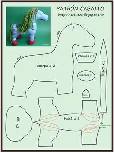Kosucas : Caballo de trapo: patrón y tutorial.