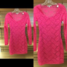 Hot pink mini dress Hot pink mini fitted dress, size small, gently used Dresses Mini