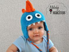 Monstosaurus Hat Pattern  All Sizes From Newborn by MelodysMakings, $3.75