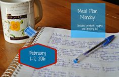 Darcie's Dishes: Meal Plan Monday: 2/1-2/7/16 // A one week meal plan that includes all drinks, snacks and meals. The meal plan is printable and has a printable shopping list as well. All the guess work is done for you. Everything is Trim Healthy Mama compliant.