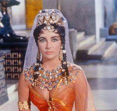 "Elizabeth Taylor in costume for ""Cleopatra"" (1963)"